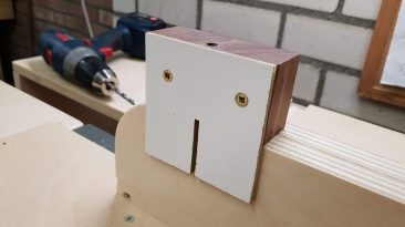 Jig for drilling holes for dowels
