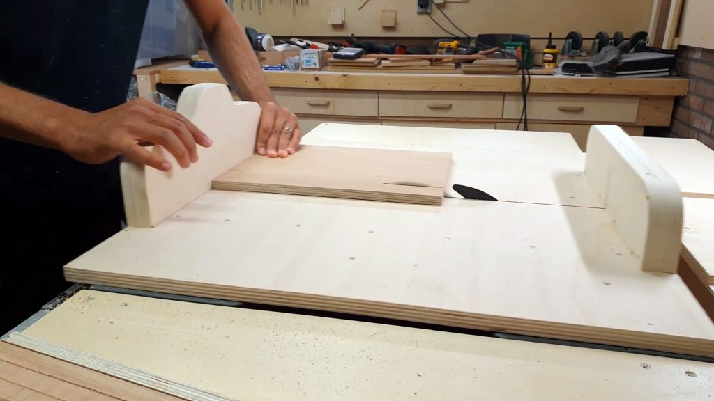 5 cuts technique on table saw sled