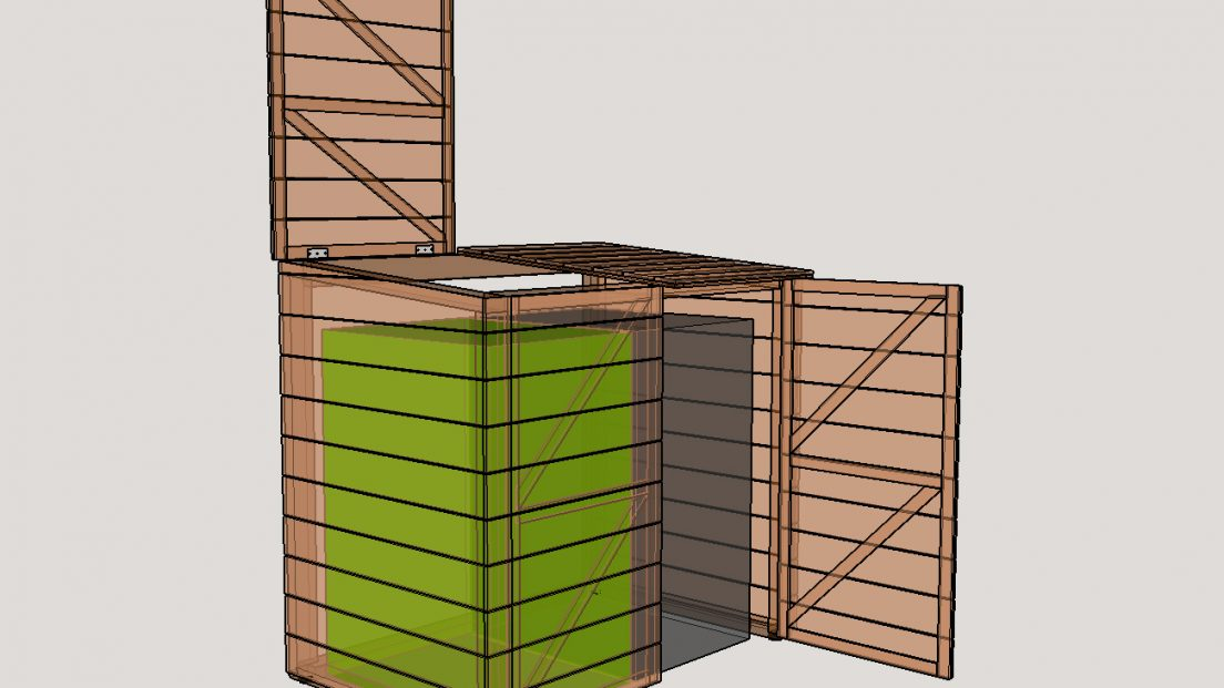 Sketch-up 3D model of garbage shed