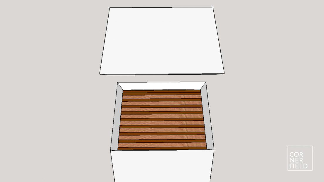 SketchUp 3D model of pillar